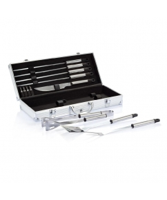 12-delige barbecue set in aluminium koffer bedrukken