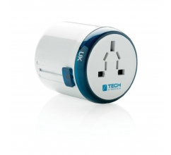 Travel Blue world travel adapter bedrukken