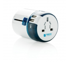 Travel Blue world travel adapter USB bedrukken