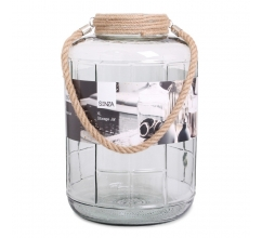 SENZA Glass Jar XL Grey bedrukken