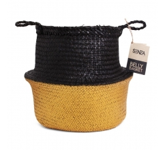 SENZA Belly Basket Black/Gold bedrukken