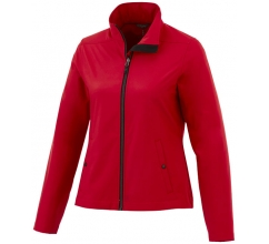 Karmine private label softshell dames jas bedrukken