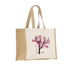 Jute Canvas Shopper tas bedrukken
